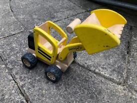 Pintoy wooden digger toy