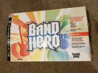 Band Hero game, drum set, guitar and microphone for Playstation