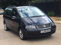 2009 VW SHARAN 1.9 TDI AUTOMATIC SPARES OR REPAIR STILL STARTS AND DRIVES VOLKSWAGEN PX 7 SEATER