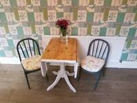 Lovely drop leaf table and chairs