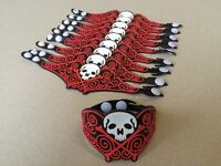 Halloween Skull Wristbands Black Silicone Pack of 50