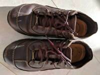 Clarks brown leather trainers size 9, eu43