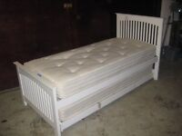 'House of Beds' adult 'Truckle' bed with 'Hypnos' mattresses.