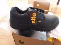 brand new safety shoes SITE Coal size 8