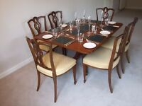 Late Georgian Dining Table plus Six 19th Century Dining Chairs