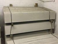Concrete base panels, gravel boards