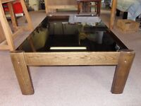 Coffee Table with Smoked Glass Top