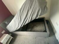 Single ottoman bed