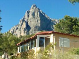 La Casita. A cottage set between the sea and the mountains, Finestrat, Alicante, Costa Blanca, Spain