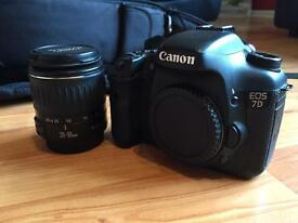 Canon 7d with lens and extras