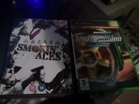 Need for Speed Underground 2 (XBOX) & Smoking Aces DVD (other things in description not shown)