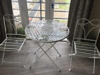 Bistro Tabel and Chairs - Foldable