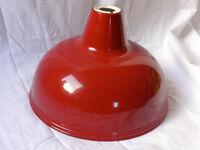 red lamp shade metal
