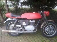 1968 yamaha yds5 hybrid mz trophey tt cafe racer flat tracker motorbike project
