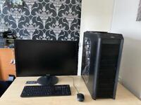 "Custom pc intel i7 2600k 16gb ram 128gb ssd 1TB hdd Nvidia Gtx 960 27"" HD led monitor"