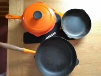 LeCreuset - Cast Iron Volcanic shade used in good condition cookware