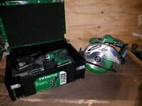 Hitachi circular saw, hammer drill and impact driver
