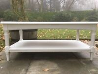 Hand Painted Ducal Solid Pine Coffee Table in White