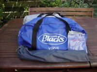 BLACKS VERNE TENT WITH POLES/PEGS IN CARRYBAG