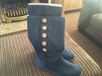 Women's genuine denim ugg boots size uk 6.5