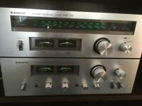 Vintage Sanyo amp and tuner