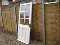 """hardwood double glassed door not very old good quality well made 33""""x78"""" £45 o.n.o."""