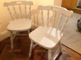 4 dining chairs shabby chic style