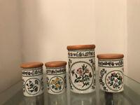 4 Portmeirion Variations storage jars for sale