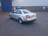 FOR SALE AUDI A4 2002 SILVER HIGH MILLAGE BUT ENGINE IS NEW AND WORKING PERFECTLY ONLY £499