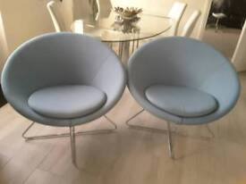 Two Allermuir contemporary designer chairs