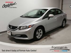 2015 Honda Civic LX - Honda Certified! Htd Seats | Bluetooth