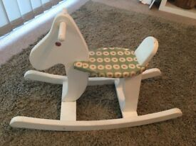 Small child's rocking horse
