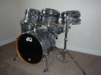 DW Collectors Series 6 Piece Kit Black Oyster Finish Ply