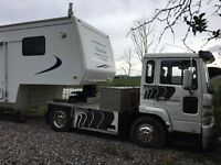 American 5th wheel motor home with Volvo tractor unit