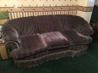 Free 3 piece sofa set.
