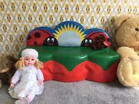 Kids sofa and big bear