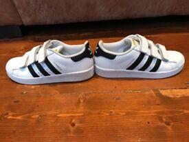 Kids Adidas superstars. Size 2