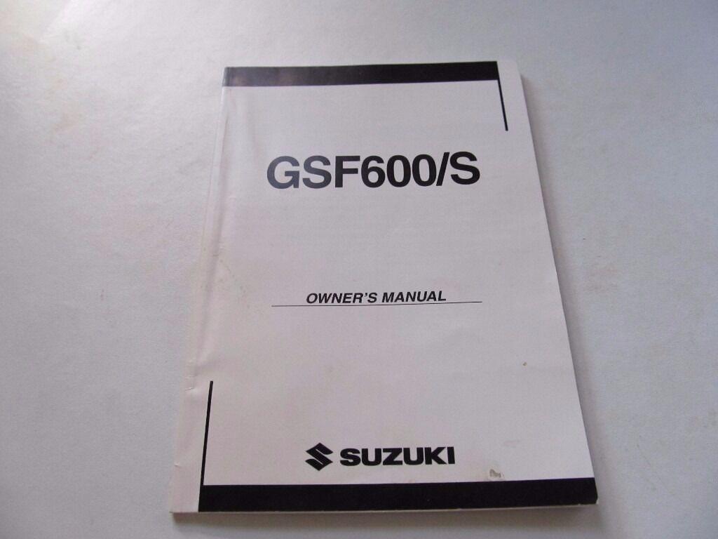 SUZUKI BANDIT 600 GSF600/S MK2 OWNERS MANUAL