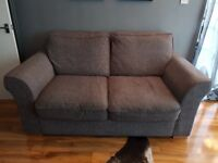 Grey Two Seat Sofa with Cushions