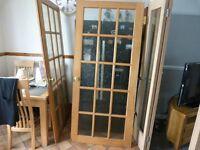 1 Set (2) Hardwood Rebate Doors with fittings..