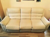 3 seater 2 seater leather recliner