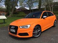 **AUDI S3 DSG SPORTBACK GLUT ORANGE MILTEX STAGE 2 EVERY OPTIONAL EXTRA!
