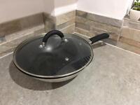 3 induction pans & wok