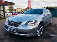 LEXUS LS 600H HYBRID LONG WHEEL BASE SATNAV SUNROOF LEATHER SEATS FULL HISTORY NOT MERC GOLF PRIUS
