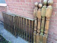 Garden Decking Posts & Caps, Spindles, Rails
