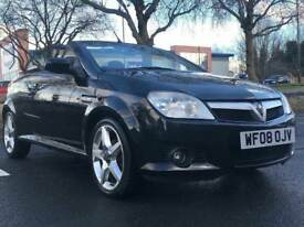 2008 VAUXHALL TIGRA CONVERTIBLE * LOW MILES * HEATED LEATHER SEATS * ALLOY WHEELS * WARRANTY *PX