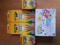 New: 2 x Colour pencils, 2 x crayons, 1 x water colour sticks