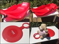 Red kids snow boat sled and bump sledge. Moving Oversees - Everything must GO