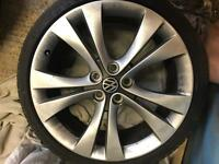 "Vauxhall insignia 20"" alloy wheels and tyres will fit other makes and models 5x120 VW T5 BMW"