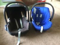 Two baby car seats